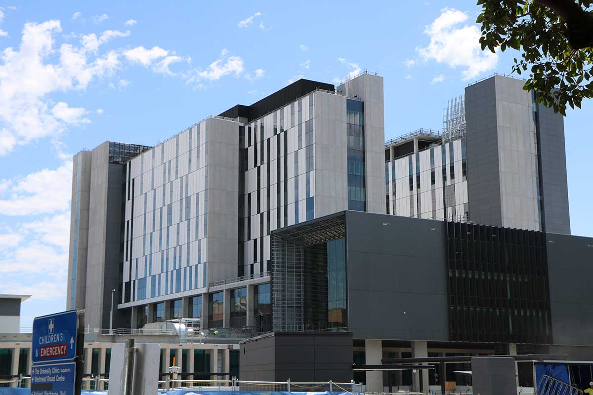 DFV Australia coated aluminium panels for Westmead Hospital